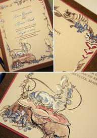 Kézzel festett esküvői meghívó- Momental Designs