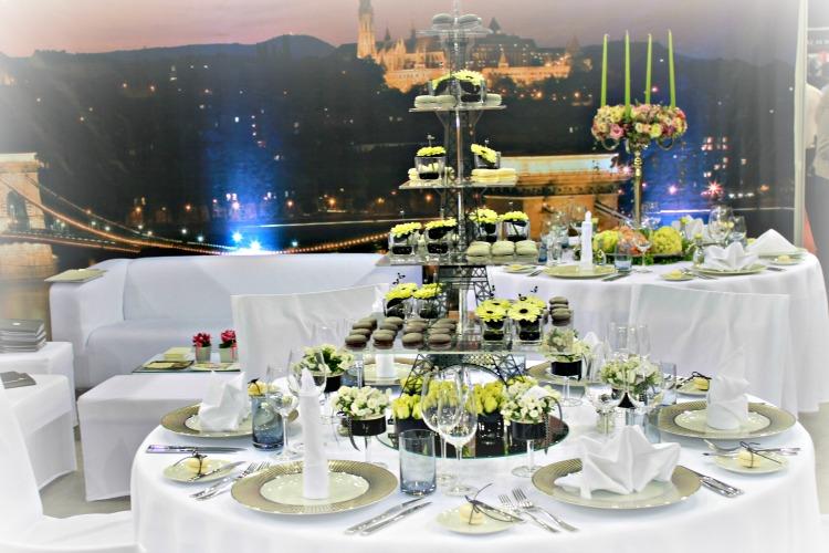Sofitel esküvői asztal