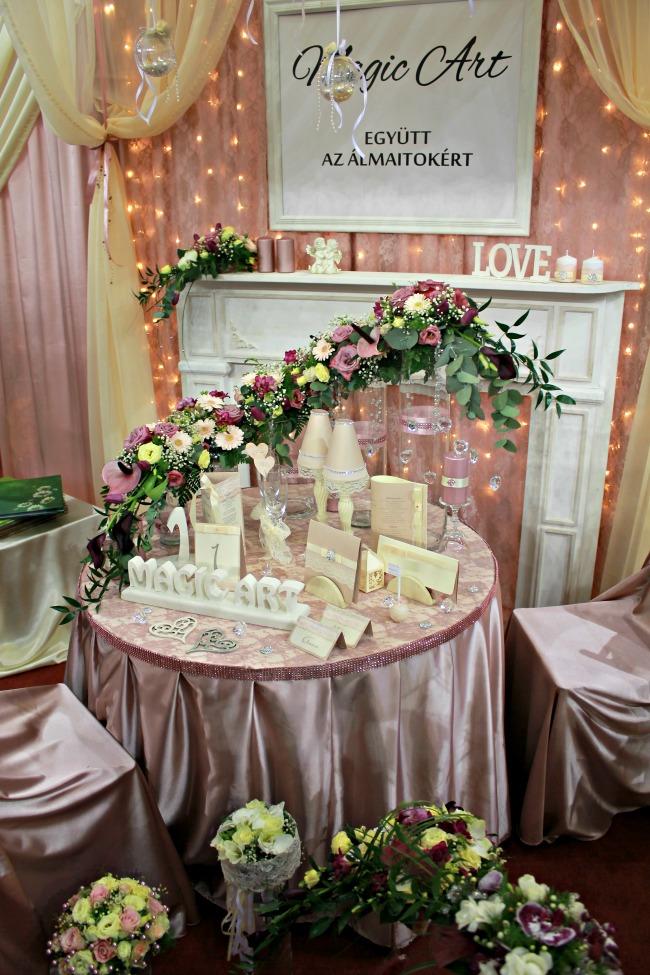 Romantikus esküvői dekoráció