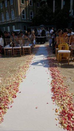Esküvő dekor - virágszirom