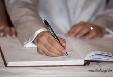 Házasságkötéshez szükséges iratok, dokumentumok
