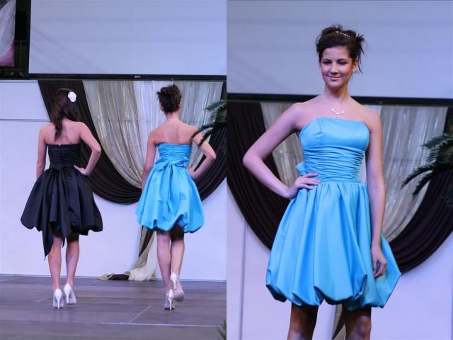 Kék koszorúslány ruhák